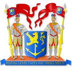 Coat of arms of Venlo, es una municipalidad y ciudad del sureste de los Países Bajos.Venlo se remonta a tiempos del Imperio romano siendo un puerto importante a orillas del río Mosa. Durante la Edad Media se convirtió en un importante enclave de la Liga Hanseática teniendo un importante mercado que extendía su influencia por el Limburgo holandés y belga. En el siglo XVI se convirtió en zona de enfrentamiento entre las tropas del Imperio español y los protestantes de Guillermo de Nassau