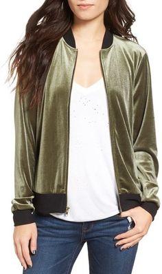 $29.40 marked down from $49! Women's Socialite Velvet Bomber Jacket #velvet #bomberjacket
