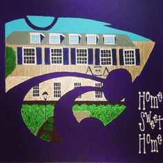 Alpha Xi Delta at K-State  Home Sweet Home sorority canvas