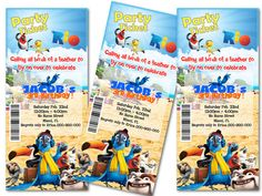 RIO Party Ticket Invitation  Birthday Party by FiestaPrint on Etsy, $8.00