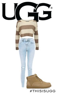 """""""Play With Prints In UGG: Contest Entry"""" by felicityskerrett ❤ liked on Polyvore featuring UGG Australia, New Look, Pilot and thisisugg"""