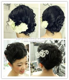 Asian Bridal Makeup  Bridal Hair Style www.sophielau.com