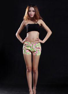 Fancy Pink Printed Cotton Short  $31.19 Cotton Shorts, Printed Cotton, Bikinis, Swimwear, Fancy, Prints, Fashion, Bathing Suits, Moda