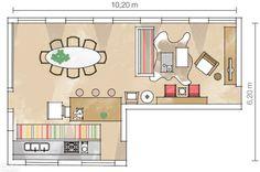 Três projetos mostram que é possível comer, trabalhar, receber e ver TV com muito conforto: tudo na sala.