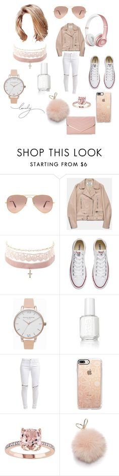 """""""PINKALISH"""" by lexiperez599 on Polyvore featuring Ray-Ban, Acne Studios, Beats by Dr. Dre, Charlotte Russe, Converse, Olivia Burton, Essie, FiveUnits, Casetify and Furla"""
