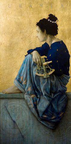 Urania, Muse of Astrology, 1993 // Jose Luis Munoz Luque (Spain)