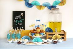 Father's Day Party Decor by Eva Pizarro for We R Memory Keepers Diy Party Board, Balloons And More, We R Memory Keepers, Heidi Swapp, Punch Board, Crate Paper, Paper Straws, Hello Everyone, Crates