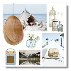 """Glamping"" by hellodollface ❤ liked on Polyvore featuring interior, interiors, interior design, home, home decor, interior decorating, Roberts, Sika, Aroma and glamping"