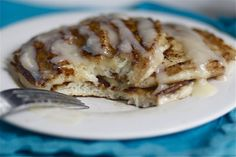 Cinnamon Roll Pancakes Made these and they're delicious! LKA Cinnamon Roll Pancakes Made these and they're delicious! Cinnamon Roll Pancakes, Cinnamon Rolls, Savory Pancakes, Breakfast Time, Breakfast Recipes, Breakfast Ideas, Brunch, Yummy Food, Tasty