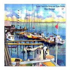 Shrimp and Oyster Boat Shower Curtain > Korpita Coastal and Urban Chic Shower Curtains > Rebecca Korpita Coastal Design