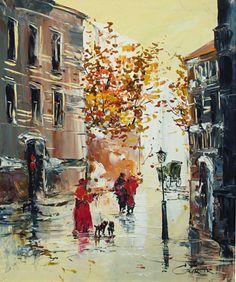 """Arbat""""s lanes #12 - Ludmila Gurar - Russian Fine Art"""