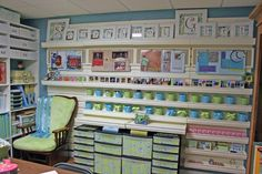 pictures+of+scrapbook+rooms | Notice how this lady fitted matching printed cardstock into the fronts ...