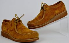 Wolverine Men's Vtg Light Brown Suede Wallabee Lace Up Ankle Boots 8.5 M #Wolverine #AnkleBoots