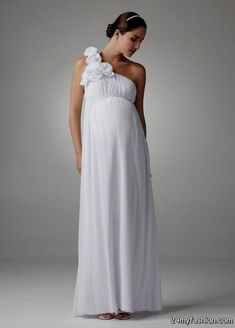 682c4a2dbb56 Drew Barrymore Proves Maternity Wedding Dresses Aren't Ugly! 5 More Pretty  Options for the Expectant Bride