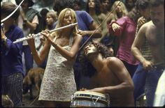 As many as 100,000 people, some shocasing the hippie fashions of the 1960s, united and celebrated in Haight-Ashbury.