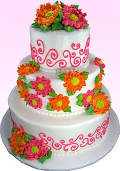 Birthday cakes decorated with buttercream icing | YummyArts Buttercream A - Z with Susan Carberry