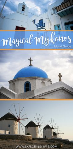 Mykonos, a beautiful island in the Cyclades, Greece, is the perfect destination for your next vacation.  This travel guide shares tips on transport, shopping, things to do and more! via @Exploring Kiwis