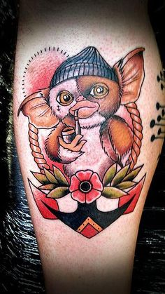 Fisher Gizmo done by Aaron Harding Tattoo