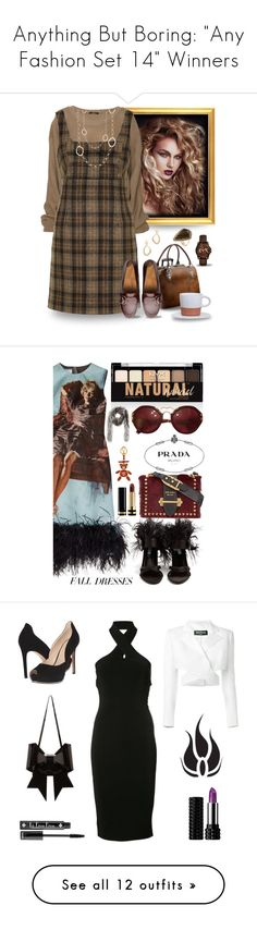 """Anything But Boring: ""Any Fashion Set 14"" Winners"" by majezy ❤ liked on Polyvore featuring Aspinal of London, Unique, FitFlop, Armani Exchange, Free Press, Rivka Friedman, Prada, Gucci, NYX and T By Alexander Wang"