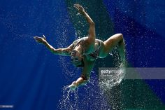 The team of Russia compete during the Synchronised Swimming Teams Technical…