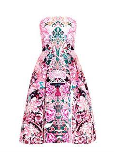Nevis calligraphy-print strapless dress | Mary Katrantzou | MA...