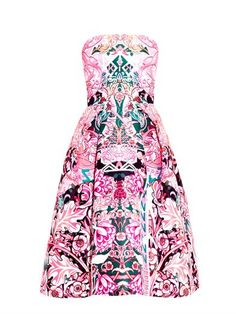 Nevis calligraphy-print strapless dress | Mary Katrantzou | MA...