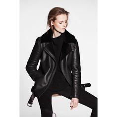 Chin shearling jacket black