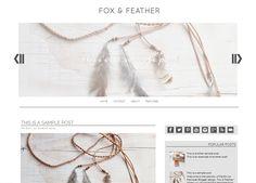 Ganhe um layout para Blogger Diy Crafts And Hobbies, Blogger Templates, Free Blog, Web Design Inspiration, Creative Design, Arrow Necklace, Wordpress, Feather, Layouts