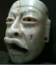 Olmec blue jade funerary mask