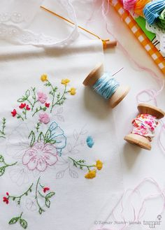 Embroidery Kit Embroidery design  Bouquet of by TamarNahirYanai