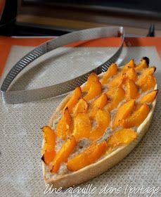 Tarte à l'abricot et crème de noisette / cercle calisson De Buyer