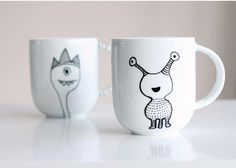 How to decorate a coffee mug using a porcelain marker
