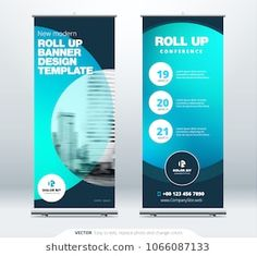 Roll Up banner stand presentation concept. Corporate business roll up template background. Vertical template billboard, banner stand or flag design layout. Poster for conference, forum, shop Bunting Design, Flag Design, Standing Banner Design, Free Banner Templates, Banner Design Inspiration, Rollup Banner, Best Banner, Banner Stands, Social Media Template
