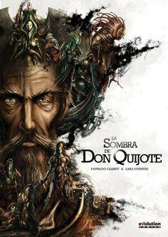 LA SOMBRA DE DON QUIJOTE. Autor: Patricio Clarey. Sinopse: A Sombra de Don Quixote é unha amarga, e lúcida reflexión sobre as tremendas contradicións da sociedade actual a través da viaxe onírico dun trasunto de Don Quixote.  SIGNATURA: COMIC-E-20