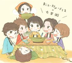 Kis-My-Ft2 Multimedia, Fangirl, Kawaii, Manga, Memes, Drawings, Anime, Idol, Fictional Characters
