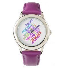 Christian Love Is Patient Wrist Watch #zazzle #christforkids https://www.zazzle.com/christian_love_is_patient_wrist_watch-256993660722166322