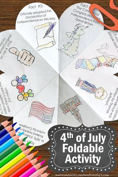 Are you looking for a fun and educational craft activity for the 4th of July Independence Day?Students will research eight different facts about Independence Day.They will need to use classroom or online resources for their research. #independencedaycrafts #independencedayactivities #forkids #fourthofjuly #history #facts #kids #students #4thofjuly  #crafts #independenceday #printables
