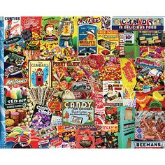 Penny Candy is a 550 piece collage jigsaw puzzle from White Mountain. Puzzle measures x when complete. Nut Goodie, Sixlets Candy, Penny Candy, Gumball, The Good Old Days, Decoration, Fun Activities, Card Games, 1000 Piece Jigsaw Puzzles