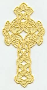 free standing lace embroidery crosses designs - Google Search