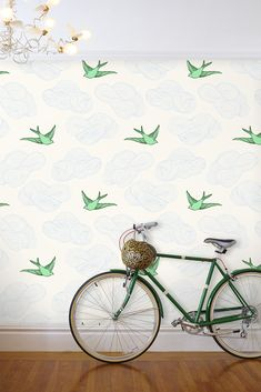 Daydream Wallpaper in Green – Julia Rothman