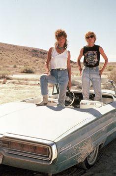 Susan Sarandon and Geena Davis - 'Thelma and Louise', 1991. ☚
