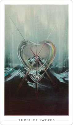 Three of Swords | The Fountain Tarot https://www.kickstarter.com/projects/756996328/the-fountain-tarot-a-contemporary-standard