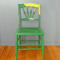 Taking a chair from boring to bold in a few simple steps using just painters' tape and spray paint.