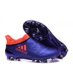 Acheter Homme - Adidas X 16+ Purechaos FG/AG Crampons Violet Orange pas cher en ligne 100,00€ sur http://cramponsdefootdiscount.com