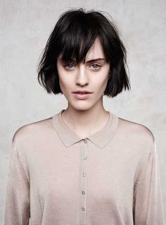 Textured Bob with Bangs | http://www.short-hairstyles.co/textured-bob-with-bangs.html