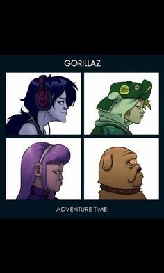 """A crossover between Adventure Time and the iconic album artwork for the Gorillaz album """"Demon Days. Adventure Time Crossover, Watch Adventure Time, Adventure Time Marceline, Fanart, Gorillaz Demon Days, Manga Anime, Anime Meme, Land Of Ooo, What Time Is"""
