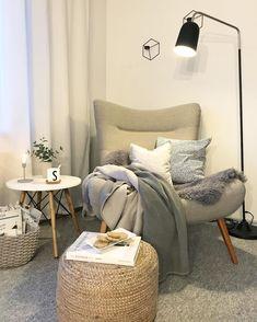Bedroom Nook, Room Ideas Bedroom, Home Decor Bedroom, Home Living Room, Living Room Designs, Living Room Decor, Deco Design, Home Office Decor, House Rooms