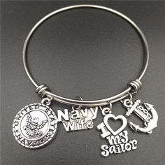 Navy Wife Bangle, Perfect Gift Idea for a Navy Wife!!!