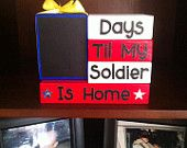 Military Deployment Countdown Blocks - Oh my gosh I want some! (except it needs to say Sailor instead of Soldier)...... I'm so making this!!!!
