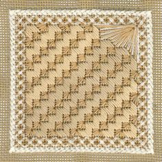 Needlepoint kits, Needlepoint tools by Bucherie.com  I'm usually more drawn to colorful pieces, but these neutrals paired with these stitches seem so bright & captivating
